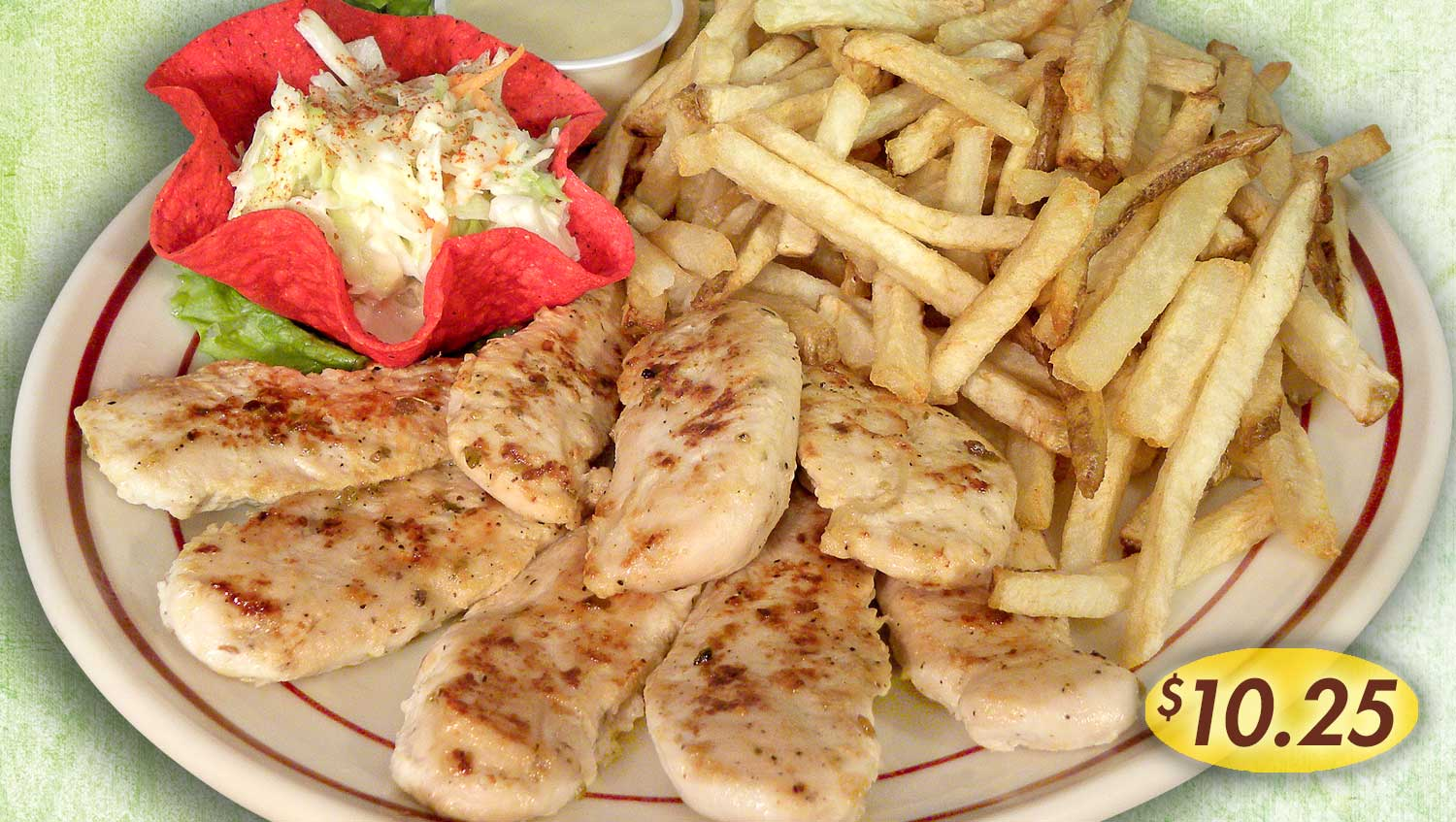 Rockne's Platters and Fries Menu Item