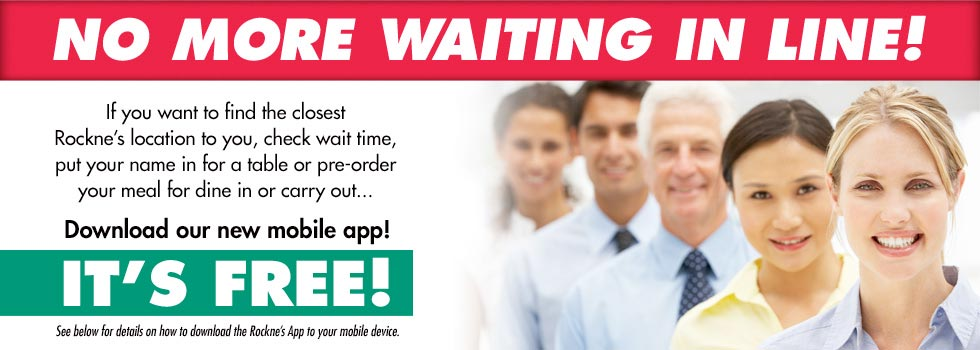 Download the Rockne's App for Your Mobile Device Today!