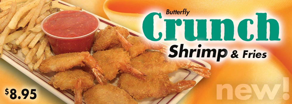 Butterfly Crunch Shrimp and Fries